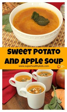 Sweet Potato and Apple Soup - This delicious seasonal dish offers a perfect balance of sweet and savory flavors that is gluten-free and dairy-free. http://www.superhealthykids.com/sweet-potato-apple-soup/