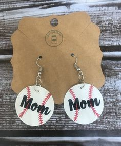 Baseball Earrings Svg Dxf Png Eps Teardrop Pendant Bat