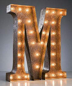 Love this 24'' M Vintage Marquee Light by Vintage Marquee Lights on #zulily! #zulilyfinds