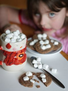 Use up those old cocoa packets and make these Hot Chocolate Cookies to keep you warm this winter!