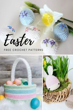 Beautiful Easter crochet patterns. Free Easter crochet pattern. Crochet Easter Eggs, Crochet Easter bunny. Crochet bunny free pattern. Amigurumi bunny free pattern. Amigurumi bunny pattern. Crochet Easter egg cozy. Free amigurumi patterns. Easy crochet pattern for beginners. Easy amigurumi pattern for beginners. Easter Crochet Patterns, Crochet Bunny, Crochet Patterns For Beginners, Easter Crafts For Adults, Learn To Crochet, Easy Crochet, Free Crochet, Easter Bunny, Easter Eggs