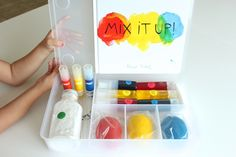 A Colour exploration kit inspired by Hervé Tullet's 'Mix It Up!'
