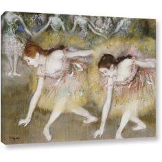 "ArtWall Edgar Degas ""Dancers Bending Down"" Gallery-wrapped Canvas"
