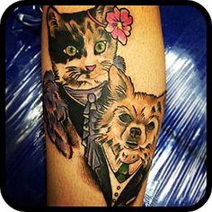d7ab585caad5d Cat n dog tattoo - Tattoos Book - 65.000 Tattoos Designs Cat And Dog Tattoo,