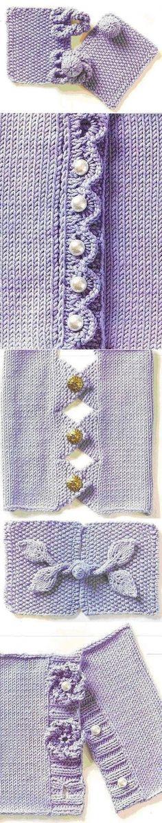 diyideas.ru hırka bordür (pervaz) ve düğme & ilik türleri