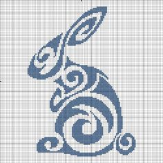 Tribal Rabbit Cross Stitch.