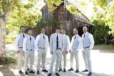 light grey suits for groomsmen