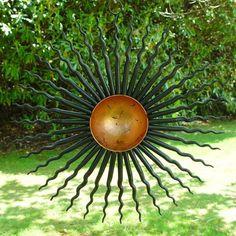 metal garden art sculptures | Semi Abstract Sun/Star Outdoor Garden Ornaments or Sculptures, By Post ...