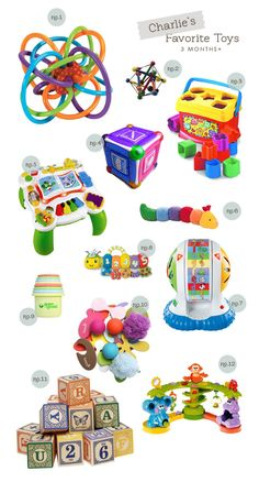 I see at least half of these on my floor right now....lol. Toys 3 Months+.