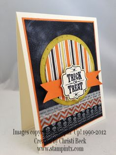 Tags 4 you ; Label bracket punch ; Spellbinders Nest. Classic circles ; PTI Double ended banner die ; Halloween