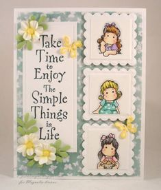 Mini Tilda Portrait 1 by PJStamps - Cards and Paper Crafts at Splitcoaststampers *I like the layout with the saying