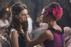Thandie Newton and Angela Sarafyan in Westworld (2016)