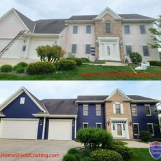 Why Paint Again? Home Shield Coating® is designed to be a money saving alternative to painting or staining.   #HomeShieldCoating #WhyPaintAgain #PaintingCedarSiding #PermanentCoatingSystem Home Shield, Cedar Siding, Remodeling, Alternative, Exterior, Money, Mansions, House Styles, Coat