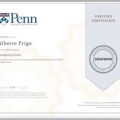 DECEMBER 12, 2014 Alberto Frigo Designing Cities a 10 week online non-credit course authorized by University of Pennsylvania and offered through Coursera ha. http://slidehot.com/resources/coursera-designingcities-2014.59272/