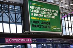 Although illegal to falsely state sponsorship of the Olympics, many companies still reference the games in their ads.