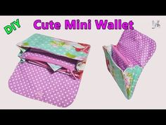 Fantastic 10 Sewing tutorials tips are offered on our internet site. Read more and you wont be sorry you did. Diy Wallet Pattern, Diy Wallet Tutorial, Coin Purse Tutorial, Zipper Pouch Tutorial, Diy Coin Purse, Diy Clutch, Tote Pattern, Mini Purse, Coin Purses