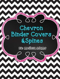 colorful chevron binder covers
