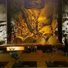 Ready for tasting  #winetastings #wine #villacorniole #barrel #dolomitiwine #trentinowinefest #visitwineries #enoturismo #winevent