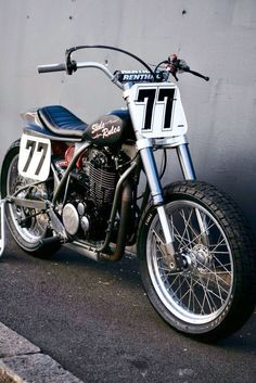 Yamaha American Dirt Track Racer by Deus Flat Track Motorcycle, Flat Track Racing, Tracker Motorcycle, Scrambler Motorcycle, Racing Motorcycles, Motorcycle Style, Custom Motorcycles, Custom Bikes, Harley Scrambler