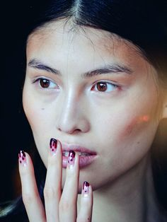 Prabal Gurung S/S '13 nails: http://beautyeditor.ca/2012/09/15/weekend-links-the-blood-drip-mani-cc-creams-and-the-new-product-that-has-60000-people-on-its-waiting-list/
