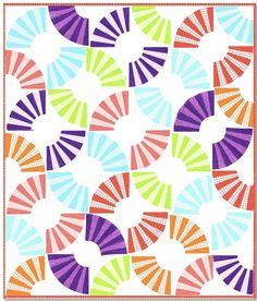 = free pattern = Fruit Slices quilt by Whistler Studios for Windham Fabrics