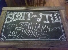 Almost finished! #wedding #chalkboard