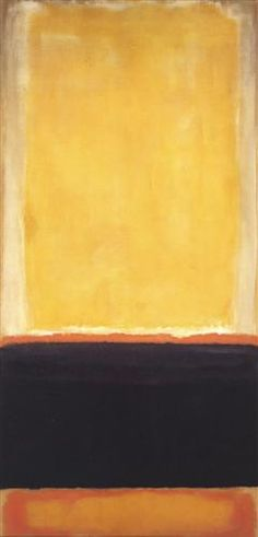 Yellow, Charcoal, Brown - Mark Rothko