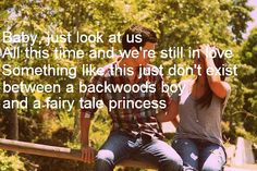 ♥ This played at the end of our recessional, because Brandon says he is the backwood boy and I am the fairy tale princess