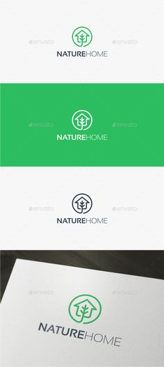 Nature Home Logo Template Vector EPS, AI Illustrator #logotype Download here: http://graphicriver.net/item/nature-home-logo/16867246?ref=ksioks
