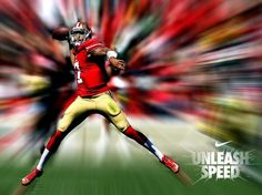 Nike Football on - pinnervor Sf Niners, Forty Niners, Nike Nfl, Nike Football, New Nfl Uniforms, Color Rush Nfl, Collage Football, Watch Football, Sports Graphics