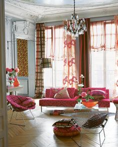Tricia Guild, Sofa Inspiration, Designers Guild, Next At Home, Art And Architecture, Vibrant, Lounge, Upholstery Fabrics, Living Room