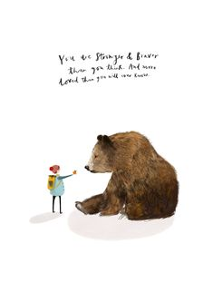'Boy and Bear' illustration by Katy Pillinger Designs © 2018