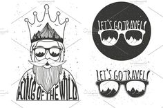 Hipster wild king set by julymilks on @creativemarket