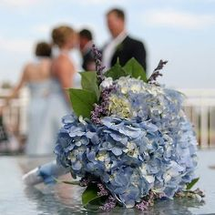 Classic Blue Hydrangea Wedding Bouquet