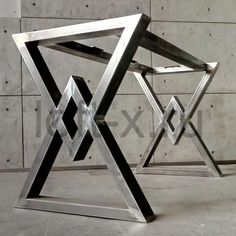 Welded Furniture, Diy Furniture Table, Iron Furniture, Steel Furniture, Furniture Legs, Custom Wood Furniture, Diy Table Legs, Steel Table Legs, Wood Table Design