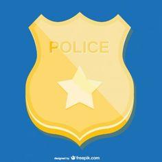 Placa de policía de oro