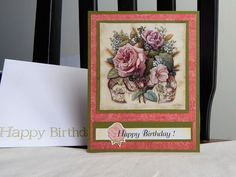 Birthday Card, greeting card, handmade, balsampondsdesign, roses, complete…