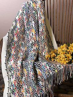 Use our free crochet afghan patterns to make a beautiful throw to add some warm spring color to your home. These free patterns come in a range of styles. - Page 1 Scrap Crochet, Crochet Motifs, Crochet Home, Crochet Yarn, Easy Crochet, Free Crochet, Ravelry Crochet, Crochet Ideas, Knitted Afghans