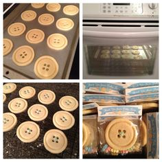 Cute as a button: baby shower sugar cookie favors