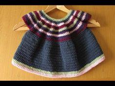 VERY EASY crochet girl's dress / top / shirt / tunic tutorial - YouTube ✿⊱╮Teresa Restegui http://www.pinterest.com/teretegui/✿⊱╮