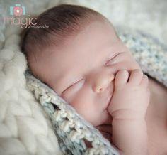Magic Photography - Newborn Baby Boy Photo Shoot, Reading, Berkshire - just love this baby sucking his thumb!