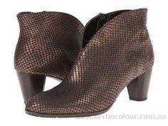 ara Tricia Copper Snake Print Metallic - Women's Boots - B8037319