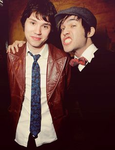 ryan ross and pete. This picture is perfect.
