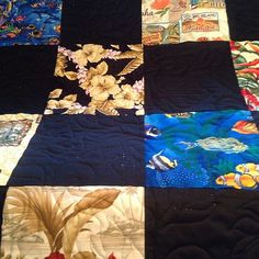 The back of the #hawaiian #souvenir quilt