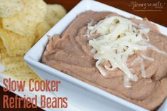 Slow Cooker Refried Beans #glutenfree  ||  Love, Pomegranate House