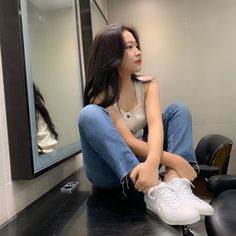 Image may contain: one or more people, people sitting and indoor Seulgi, Red Velvet, My Girl, Cool Girl, Kim Yerim, How To Pose, Ulzzang Girl, South Korean Girls, Kpop Girls