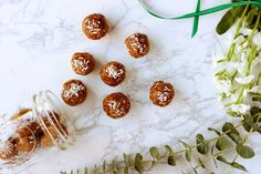3 No-Bake Holiday Cookie-Flavored Energy Balls