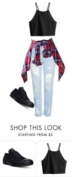 """♤ Diss battle SI ♤"" by cariteam6 ❤ liked on Polyvore featuring Converse, H&M and Topshop"