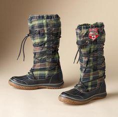 Pajar Highlander Plaid Boots  $175.00