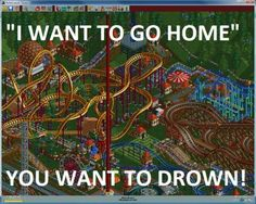 Roller Coaster Tycoon=dictatorship. Now buy some cotton candy or I'll drop you in the lake.